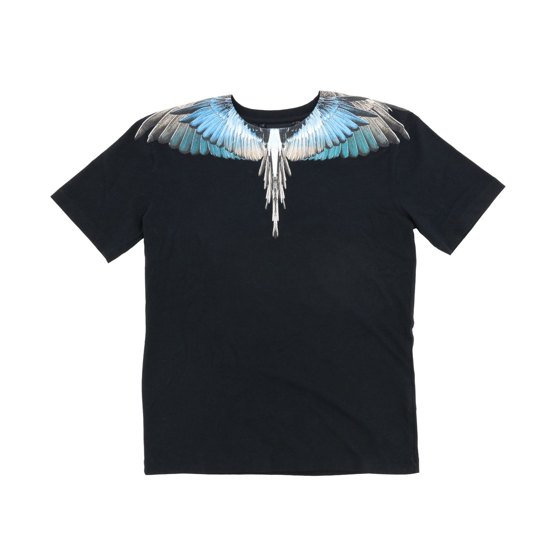 Marcelo Burlon 多色羽毛印花短袖T恤 黑色 1