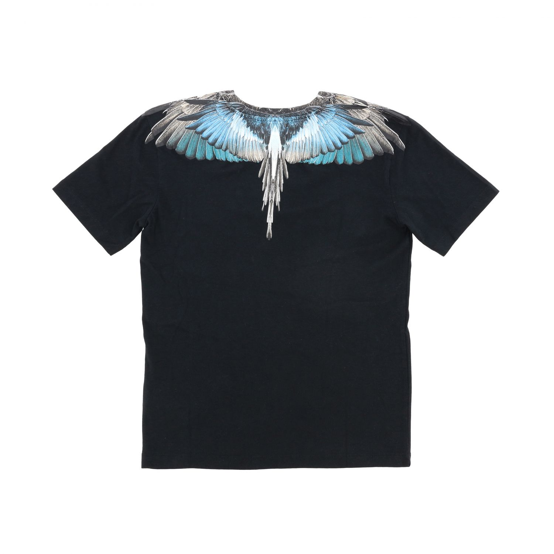Marcelo Burlon 多色羽毛印花短袖T恤 黑色 2