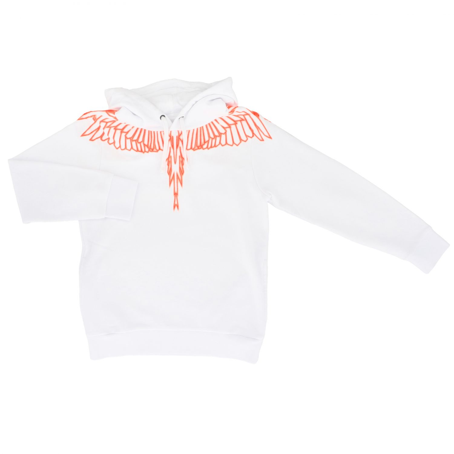 Marcelo Burlon hooded sweatshirt with feathers print black 1