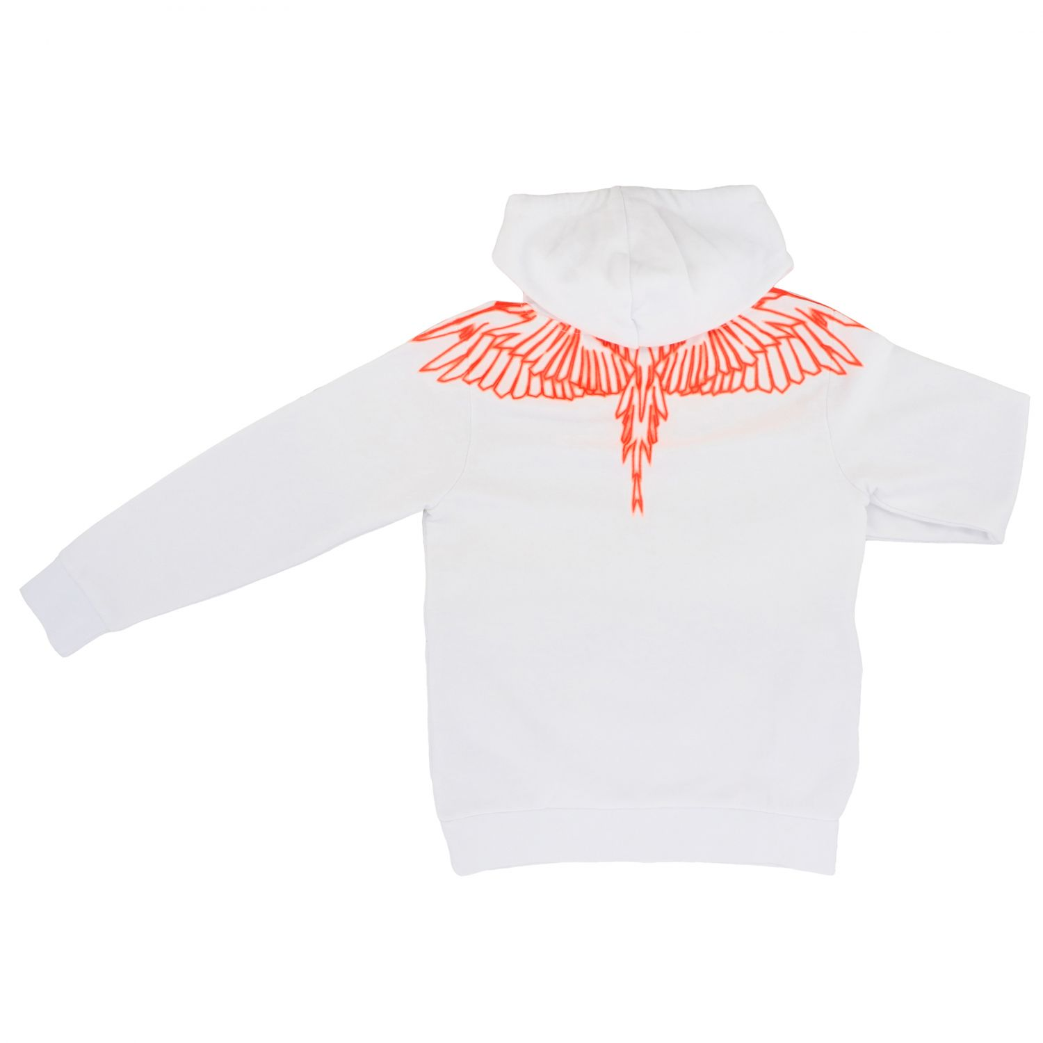 Marcelo Burlon hooded sweatshirt with feathers print black 2