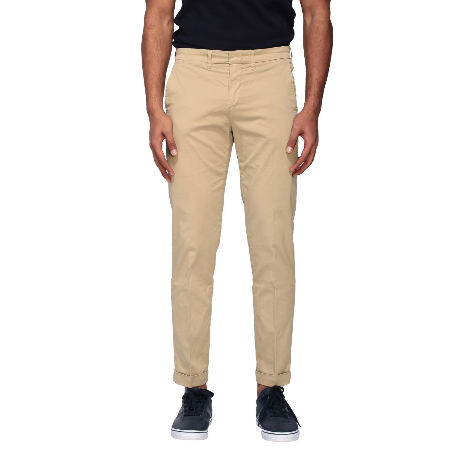 Pantalone Fay in gabardine stretch beige 1