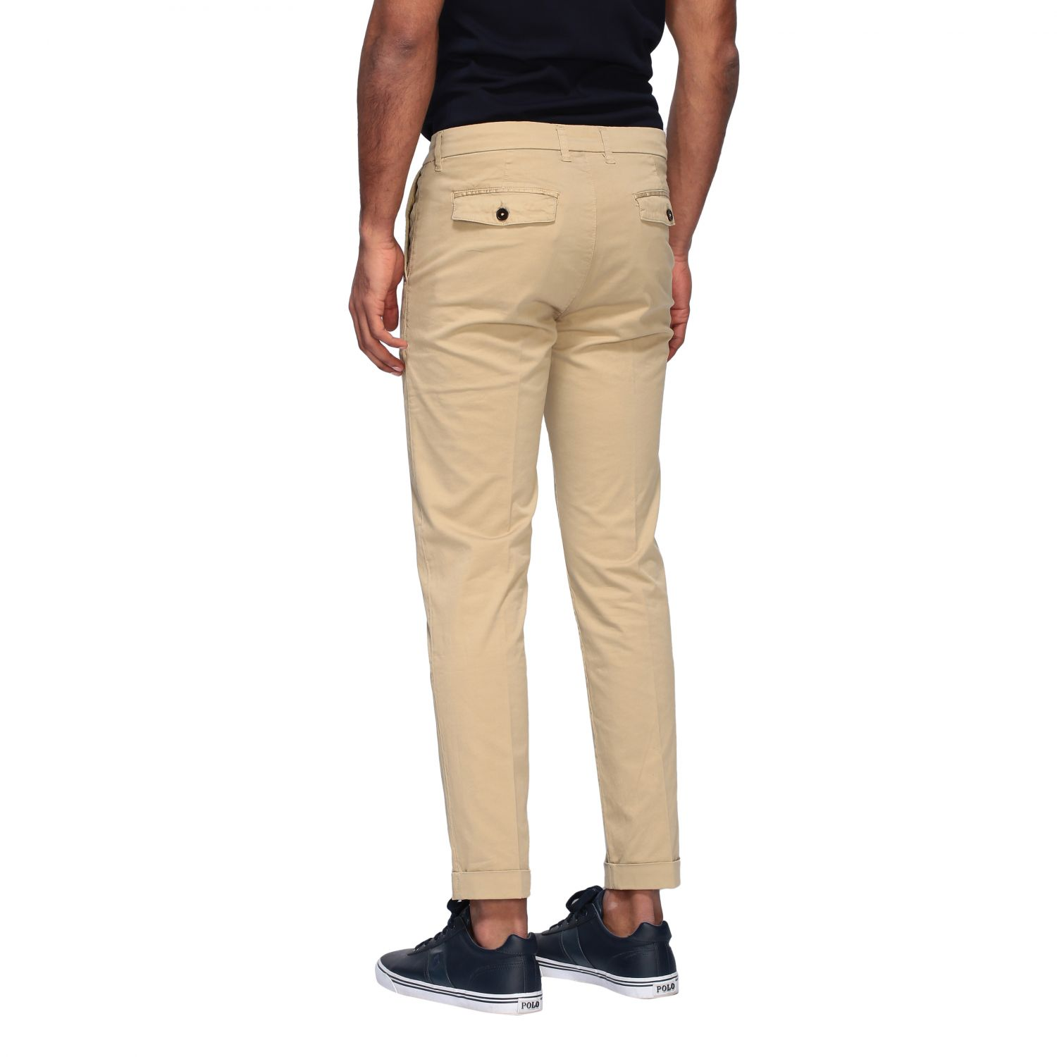 Pantalone Fay in gabardine stretch beige 3
