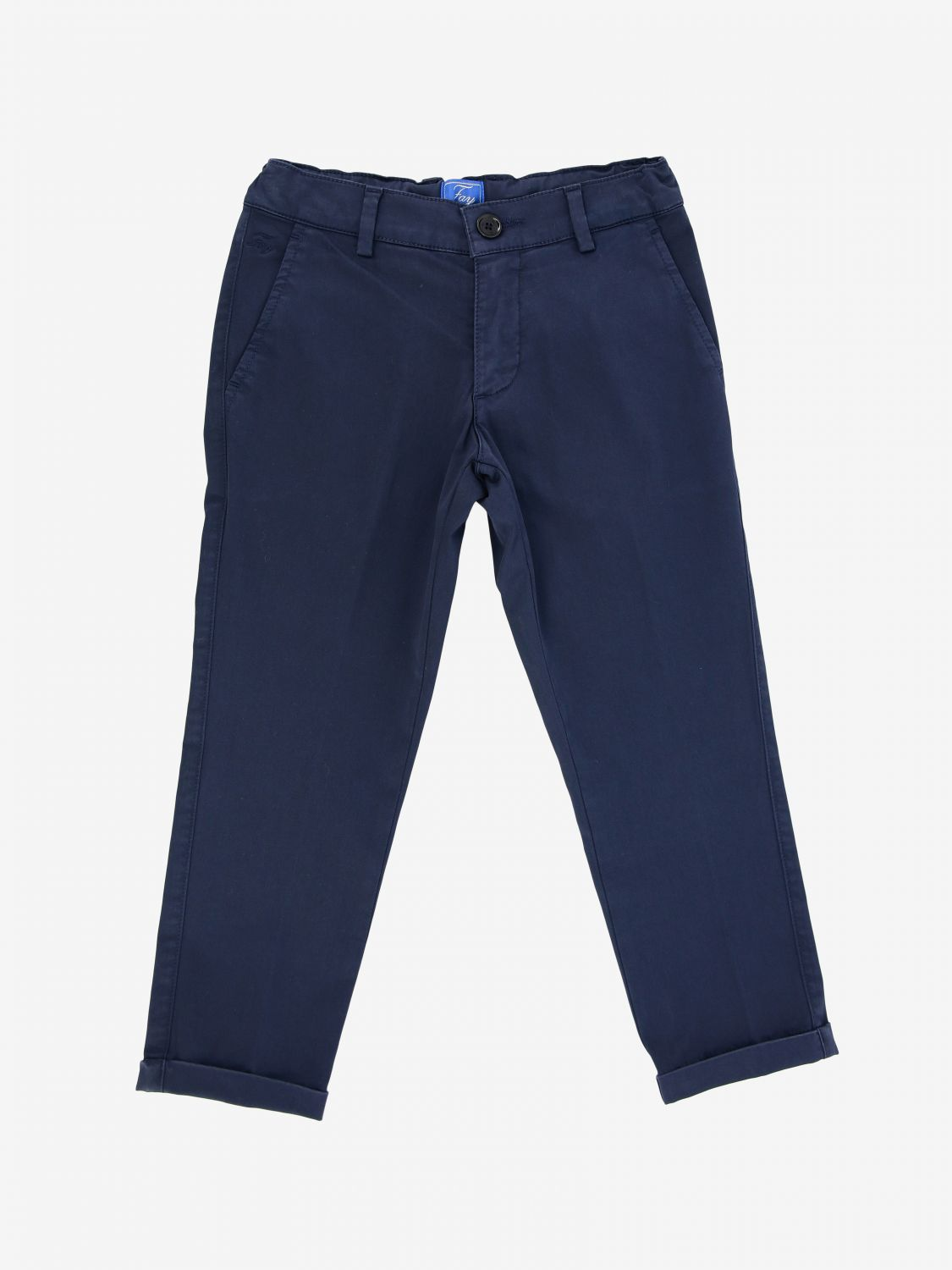 Fay cotton trousers blue 1