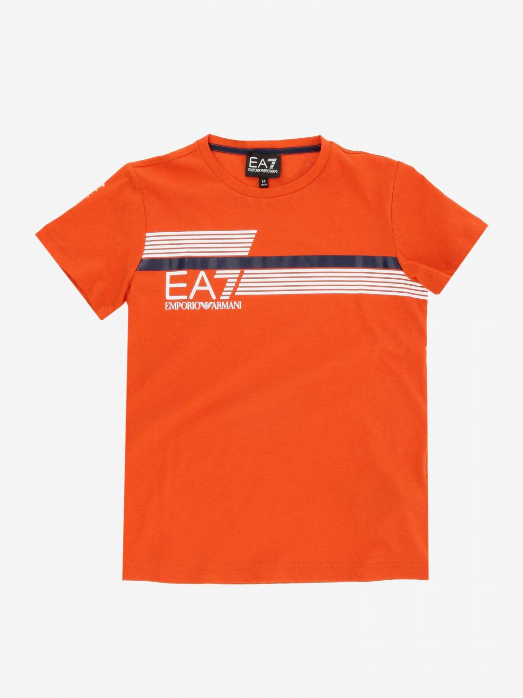 T-shirt EA7 avec logo imprimé bleu 1