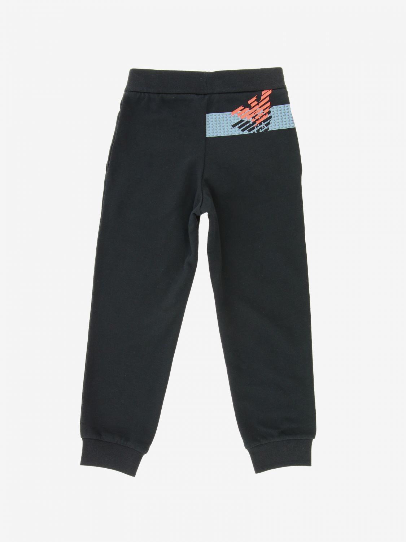Ea7 logo 运动裤子 黑色 2