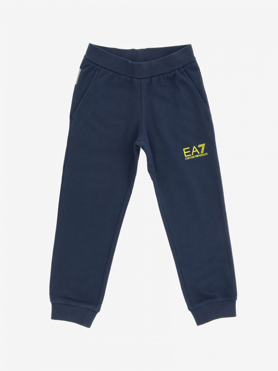 EA7 jogging trousers with logo blue 1