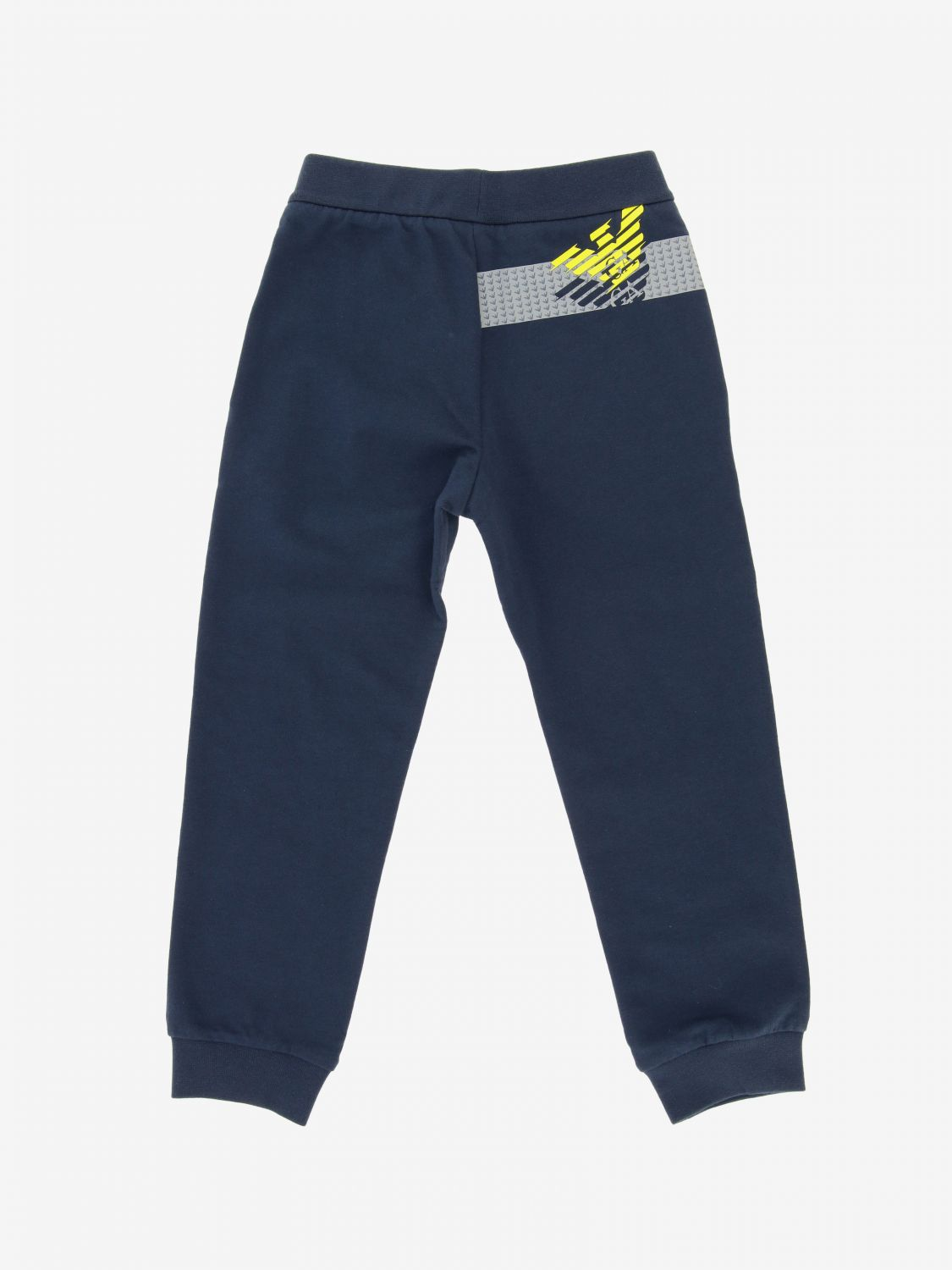 EA7 jogging trousers with logo blue 2