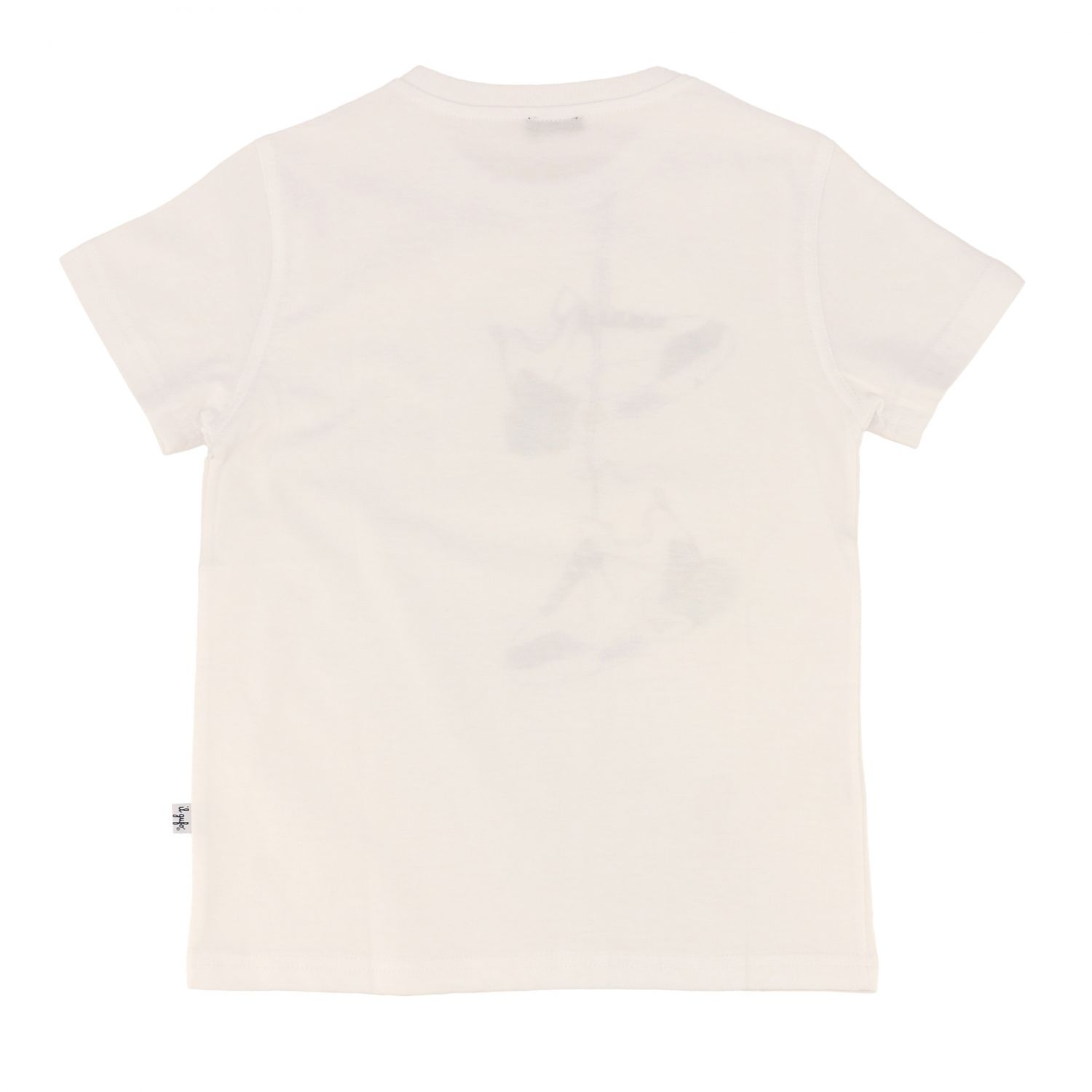 Il Gufo short-sleeved t-shirt with shoe print white 2