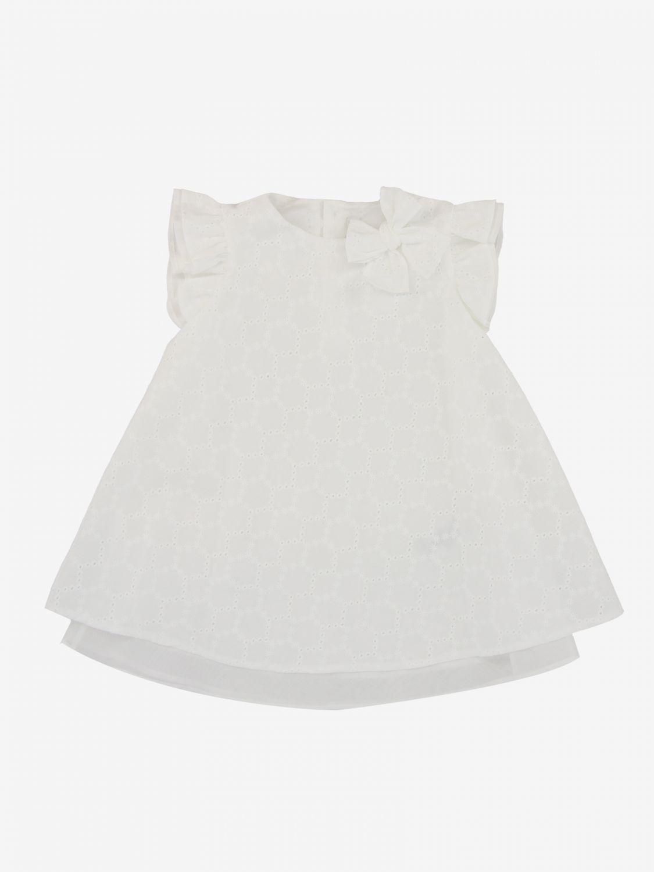 Il Gufo Sangallo装饰连衣裙 白色 1