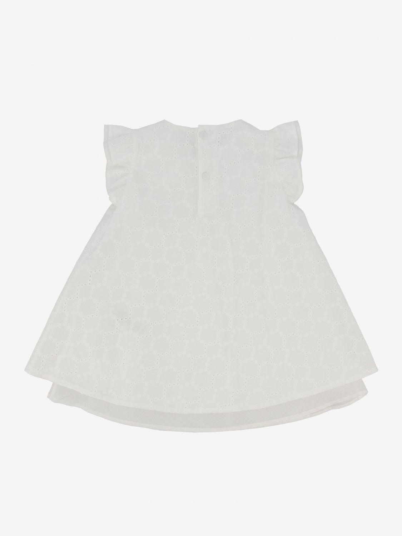 Il Gufo Sangallo装饰连衣裙 白色 2