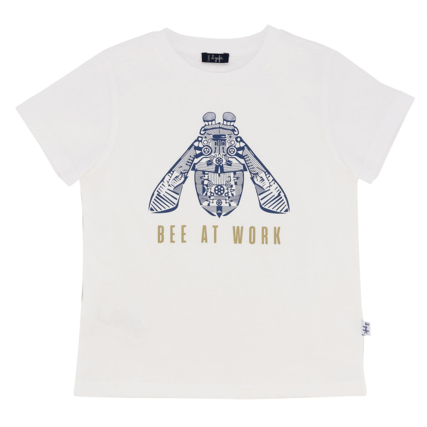 Il Gufo short-sleeved T-shirt with bee print white 1