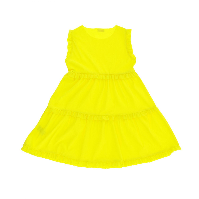Robe Il Gufo: Robe Il Gufo en tissu technique avec ruches jaune 2