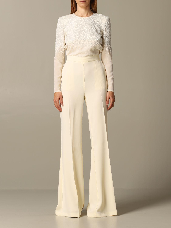 连衣裙 女士 Elisabetta Franchi 奶油黄 1