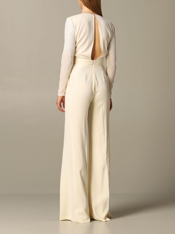 连衣裙 女士 Elisabetta Franchi 奶油黄 2