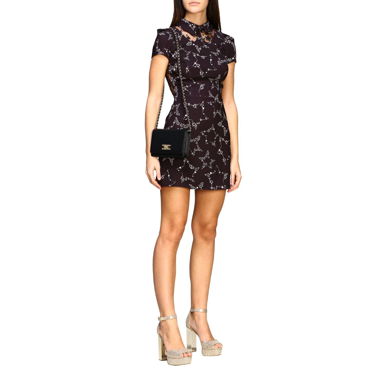 Elisabetta Franchi 星型印花连衣裙 黑色 2