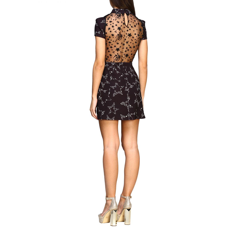 Elisabetta Franchi 星型印花连衣裙 黑色 3