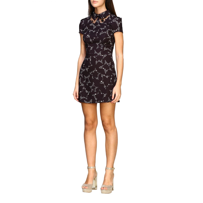Elisabetta Franchi 星型印花连衣裙 黑色 4
