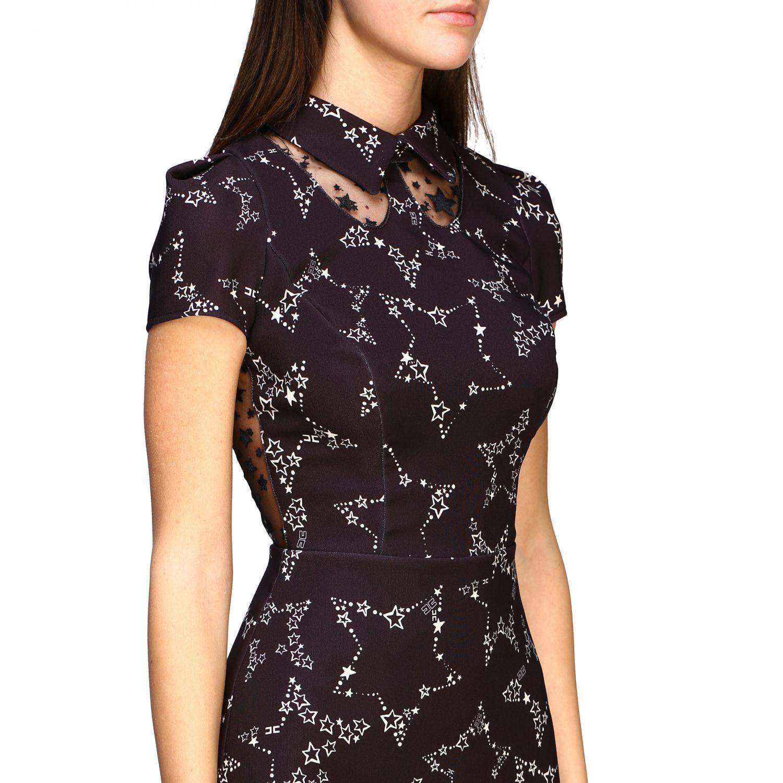 Elisabetta Franchi 星型印花连衣裙 黑色 5