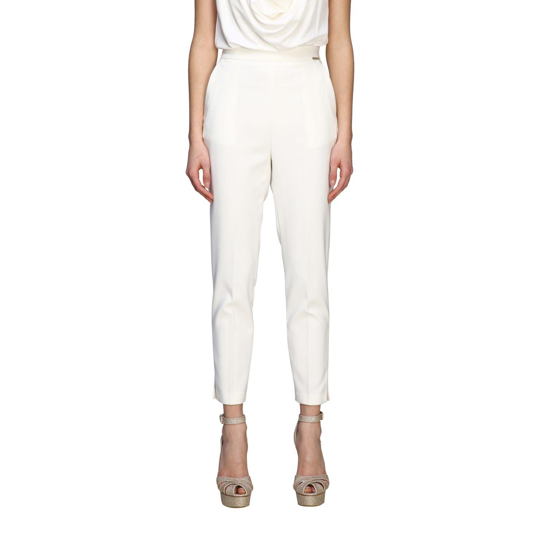 Elisabetta Franchi slim trousers ivory 1