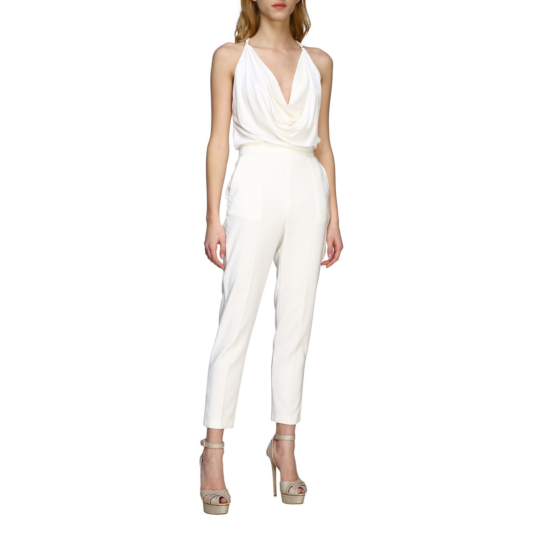 Elisabetta Franchi slim trousers ivory 2