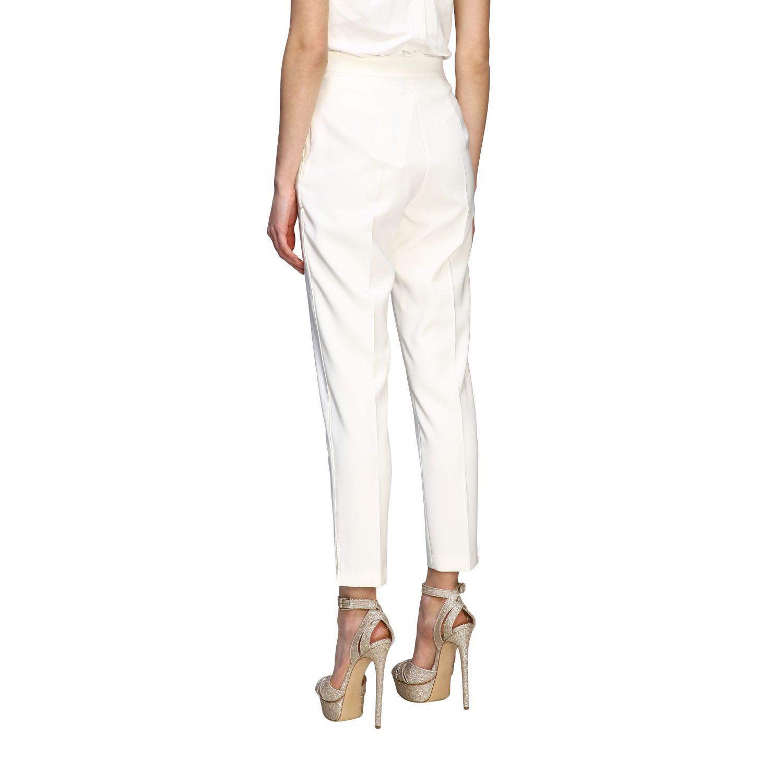 Elisabetta Franchi slim trousers ivory 3