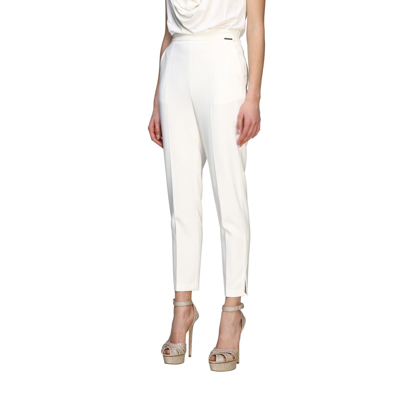 Elisabetta Franchi slim trousers ivory 4