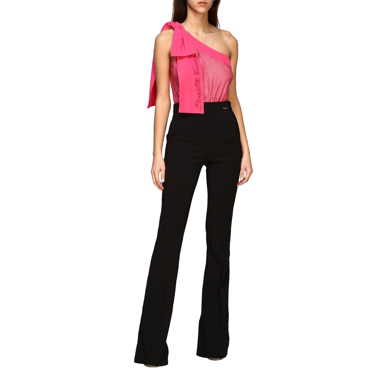 Pantalone Elisabetta Franchi flair nero 2
