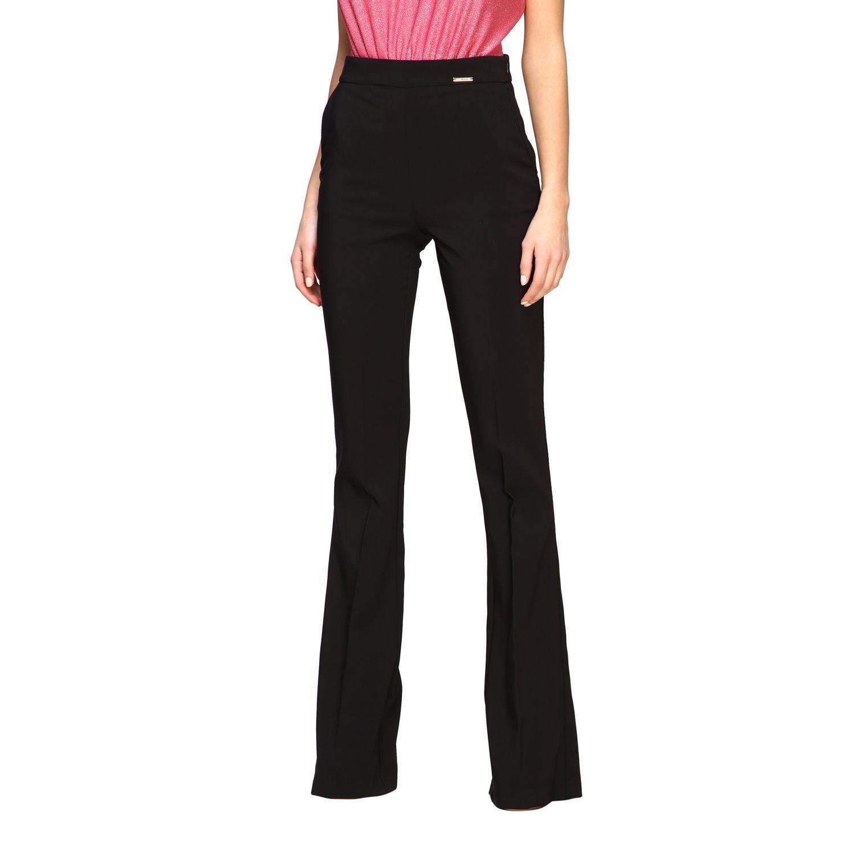 Pantalone Elisabetta Franchi flair nero 4