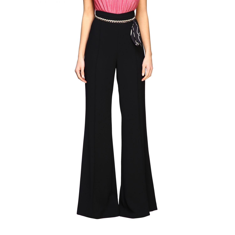 Pantalone Elisabetta Franchi con catena nero 1