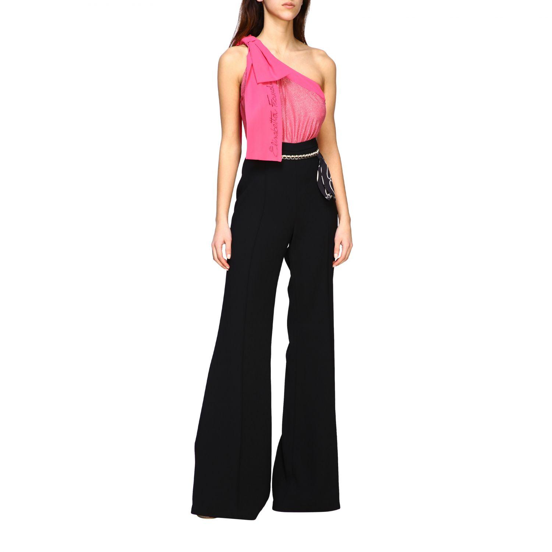 Pantalone Elisabetta Franchi con catena nero 2