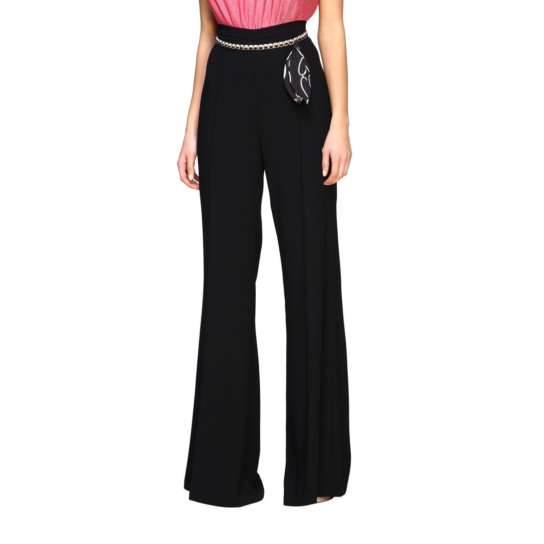 Pantalone Elisabetta Franchi con catena nero 4