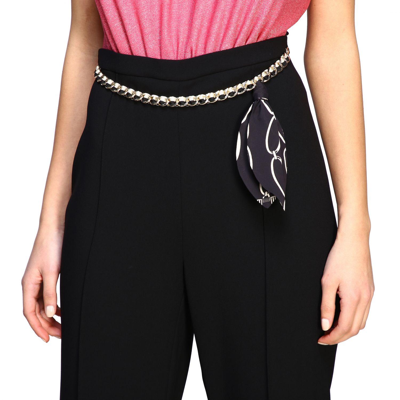 Pantalone Elisabetta Franchi con catena nero 5