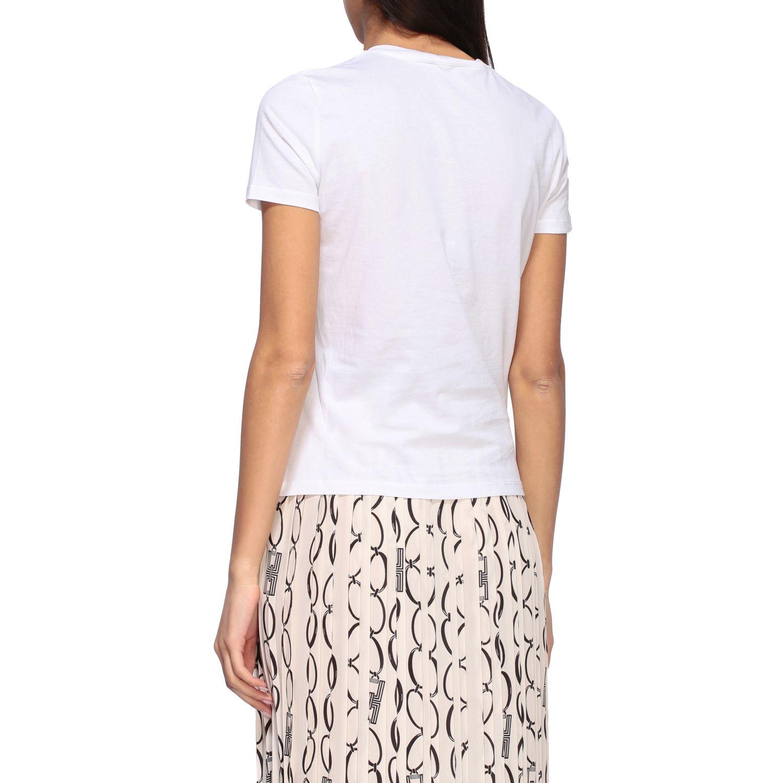 T-shirt Elisabetta Franchi a girocollo con logo bianco 3
