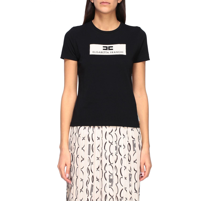 T-shirt women Elisabetta Franchi black 1