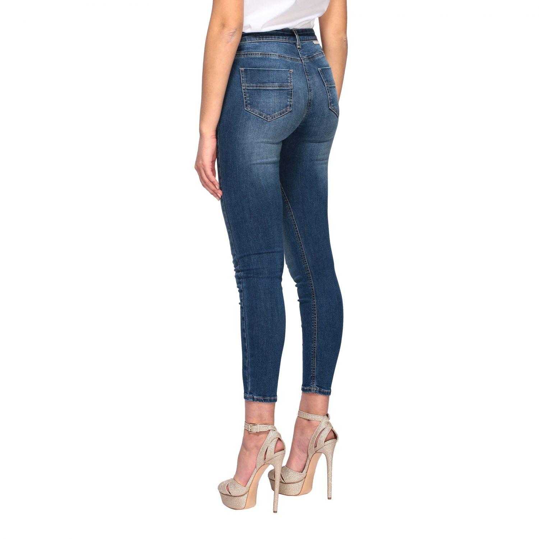 Jeans Elisabetta Franchi slim con catena denim 3