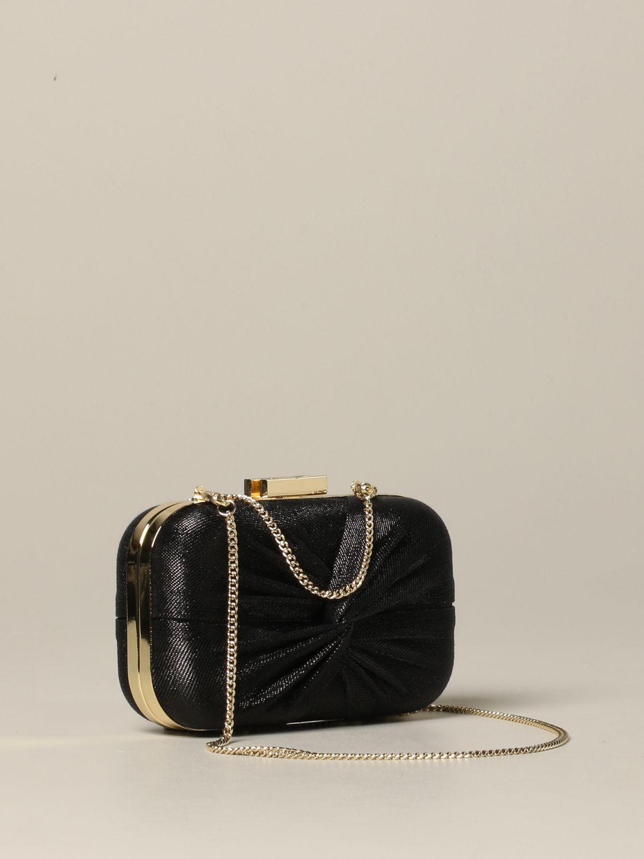 Elisabetta Franchi clutch in lurex fabric black 3