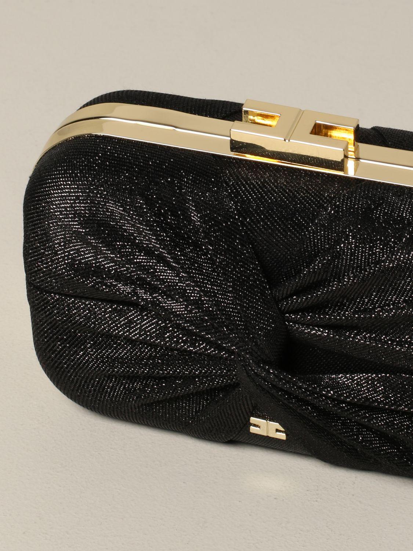 Elisabetta Franchi clutch in lurex fabric black 4