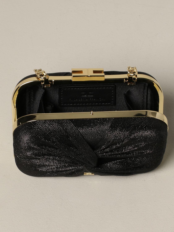 Elisabetta Franchi clutch in lurex fabric black 5