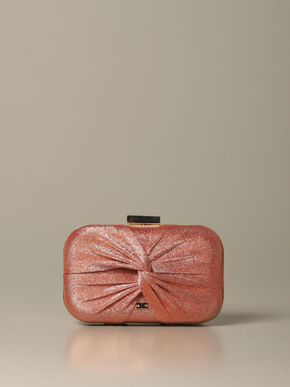 Elisabetta Franchi clutch in lurex fabric fuchsia 1