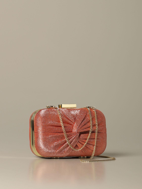 Elisabetta Franchi clutch in lurex fabric fuchsia 2