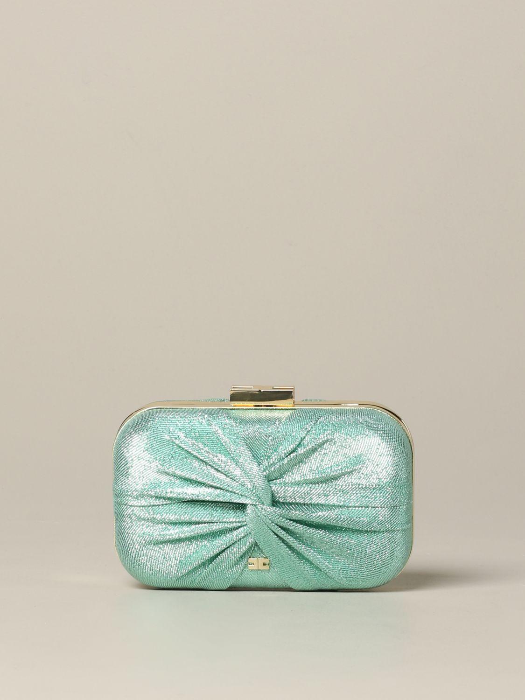 Elisabetta Franchi clutch in lurex fabric water 1