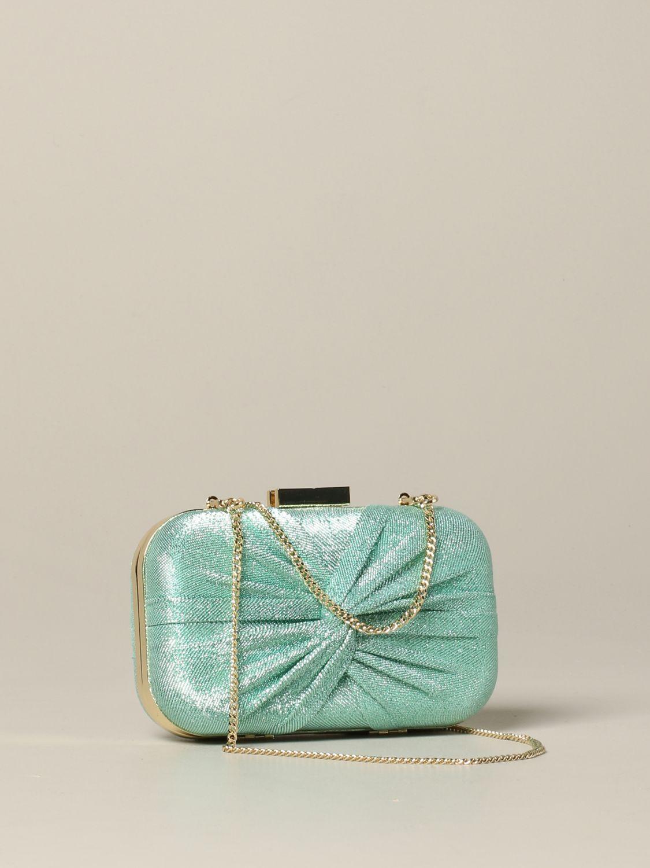 Elisabetta Franchi clutch in lurex fabric water 3