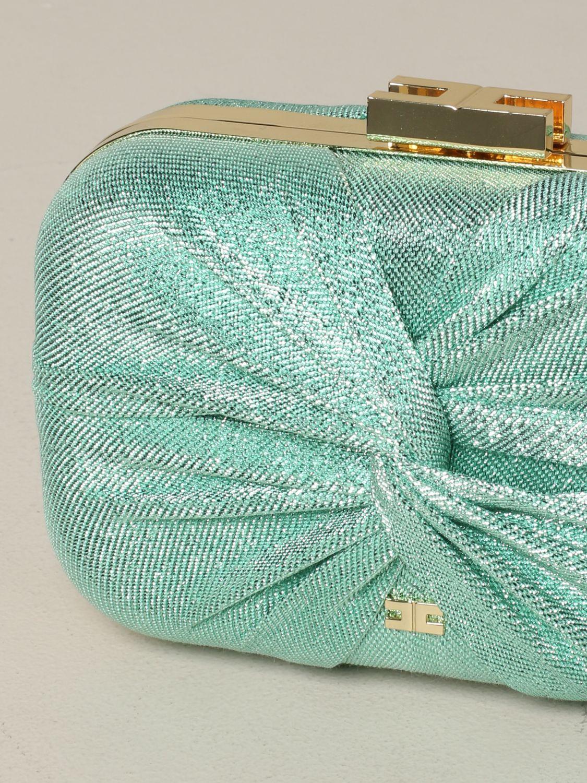 Elisabetta Franchi clutch in lurex fabric water 4