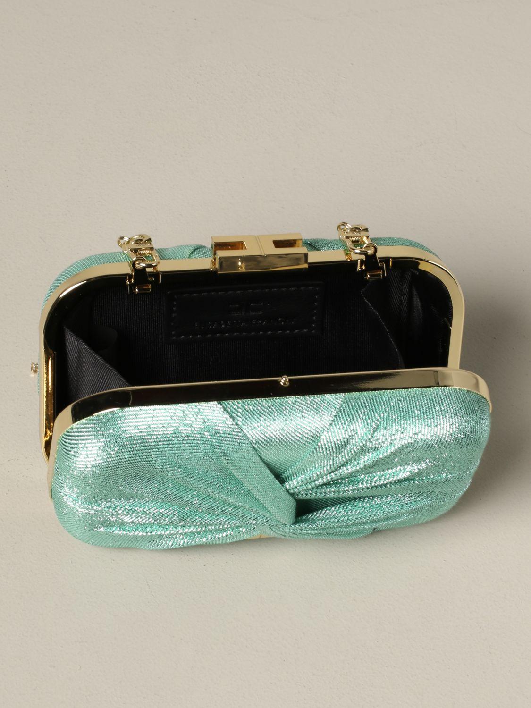 Elisabetta Franchi clutch in lurex fabric water 5