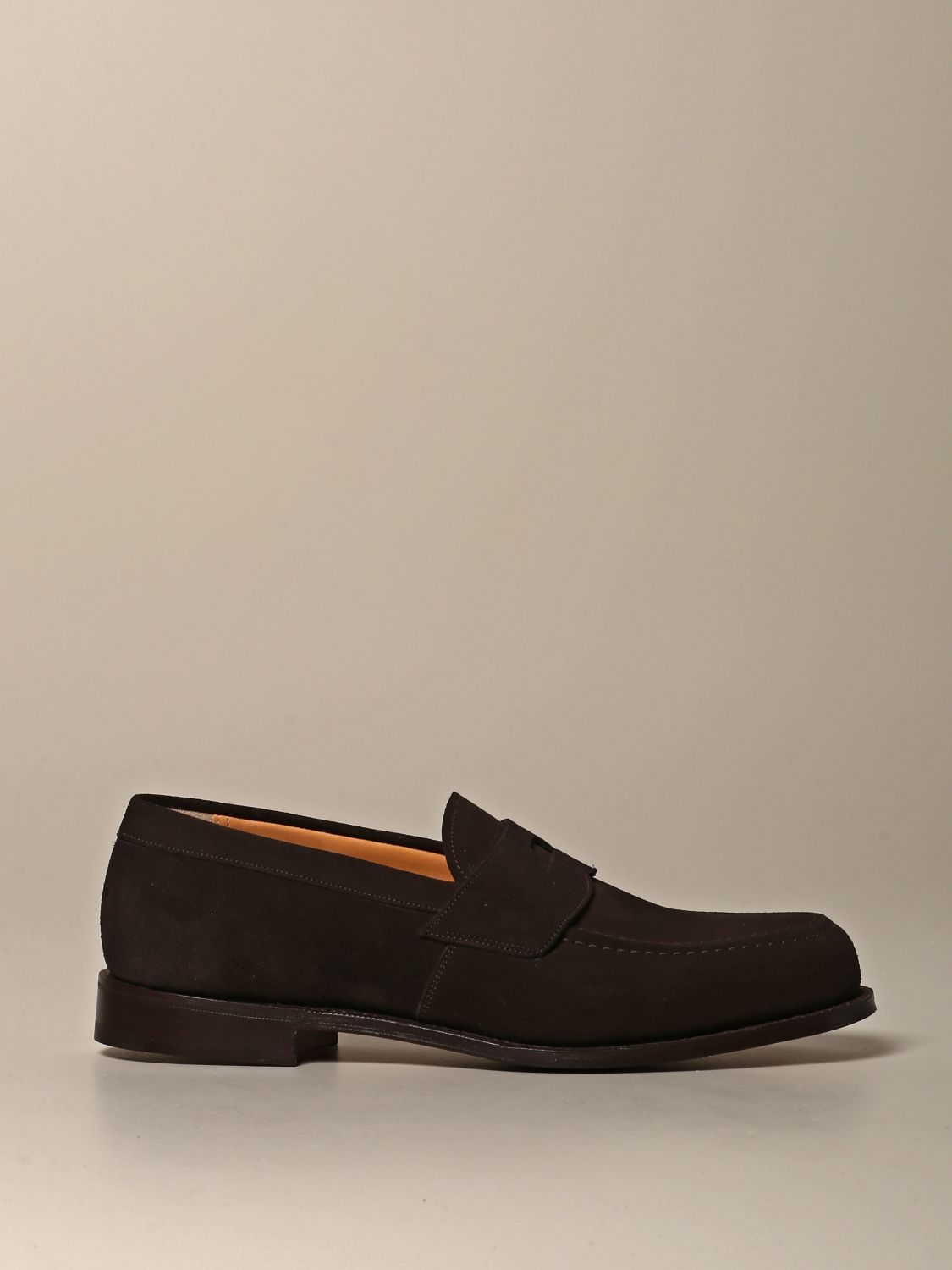 Loafers Church's: Dawley Church's suede moccasin with sleeper dark 1