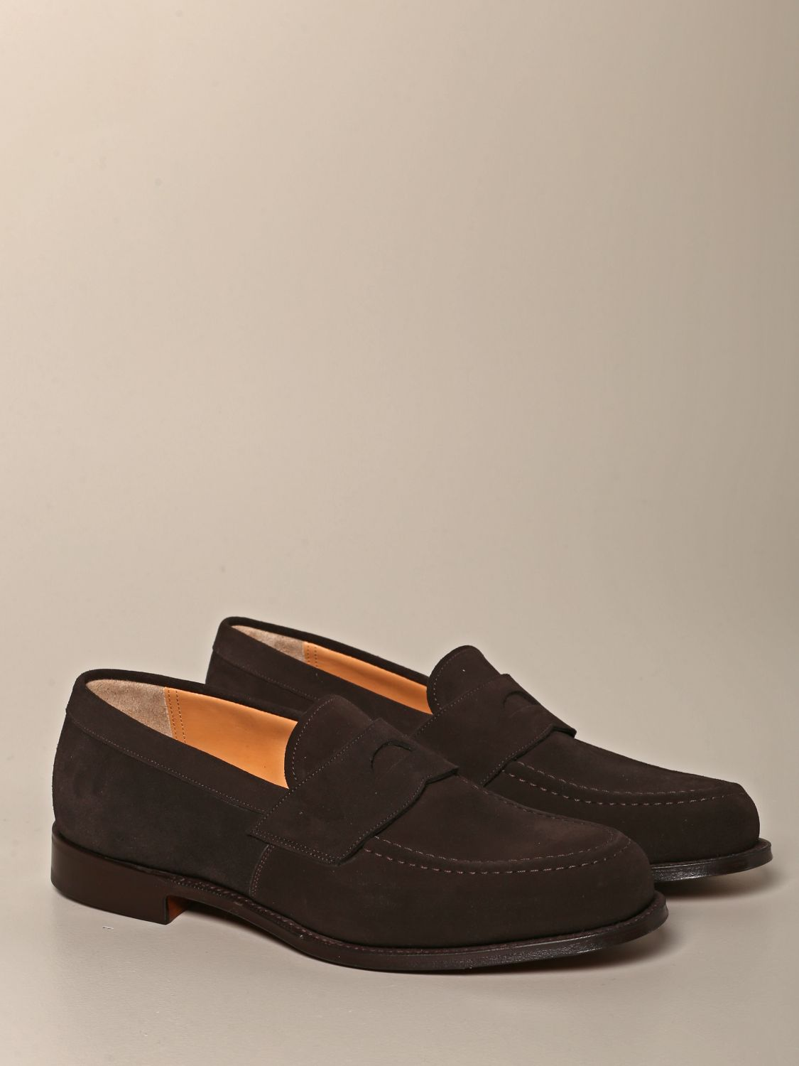 Loafers Church's: Dawley Church's suede moccasin with sleeper dark 2