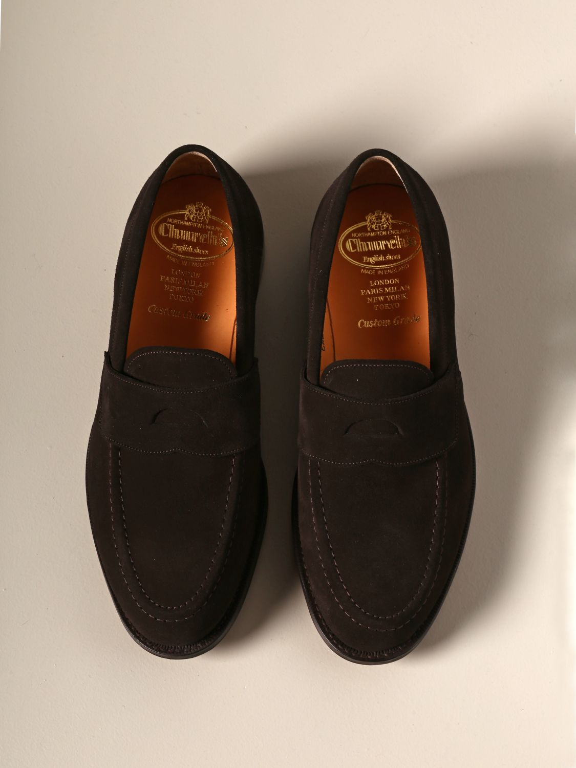 Loafers Church's: Dawley Church's suede moccasin with sleeper dark 3