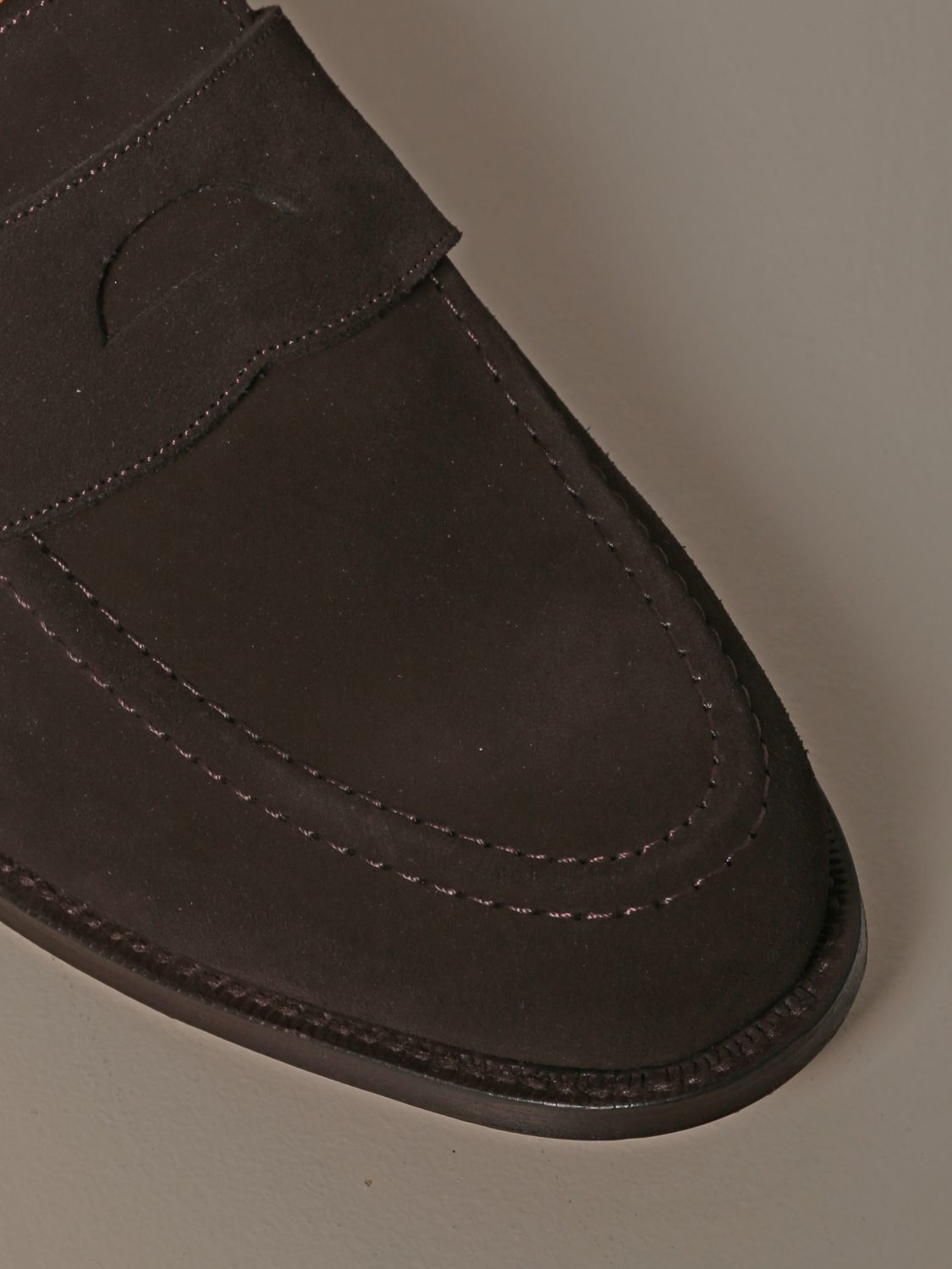 Loafers Church's: Dawley Church's suede moccasin with sleeper dark 4