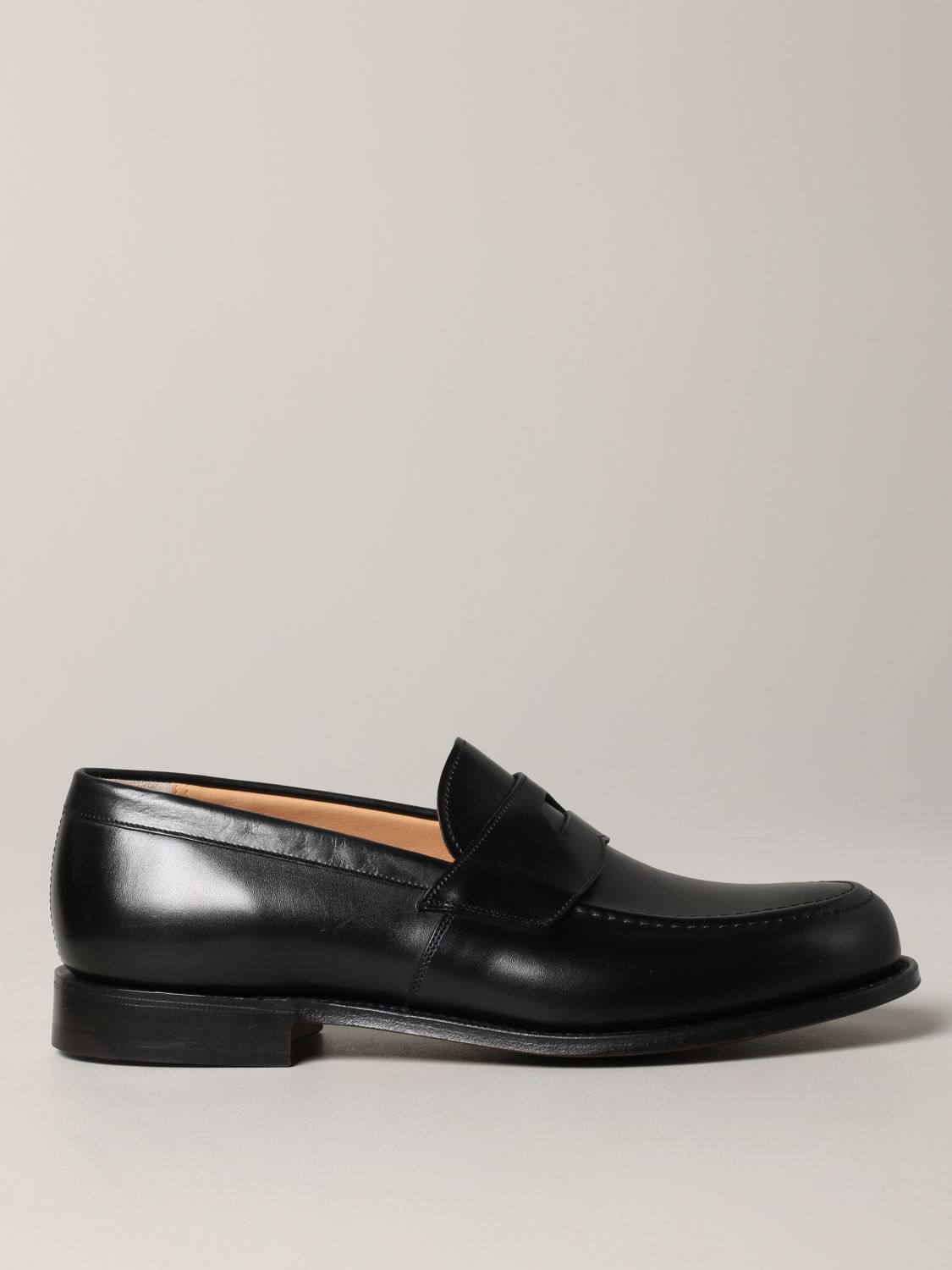 Loafers Church's: Dawley Church's loafer in leather with sleeper black 1