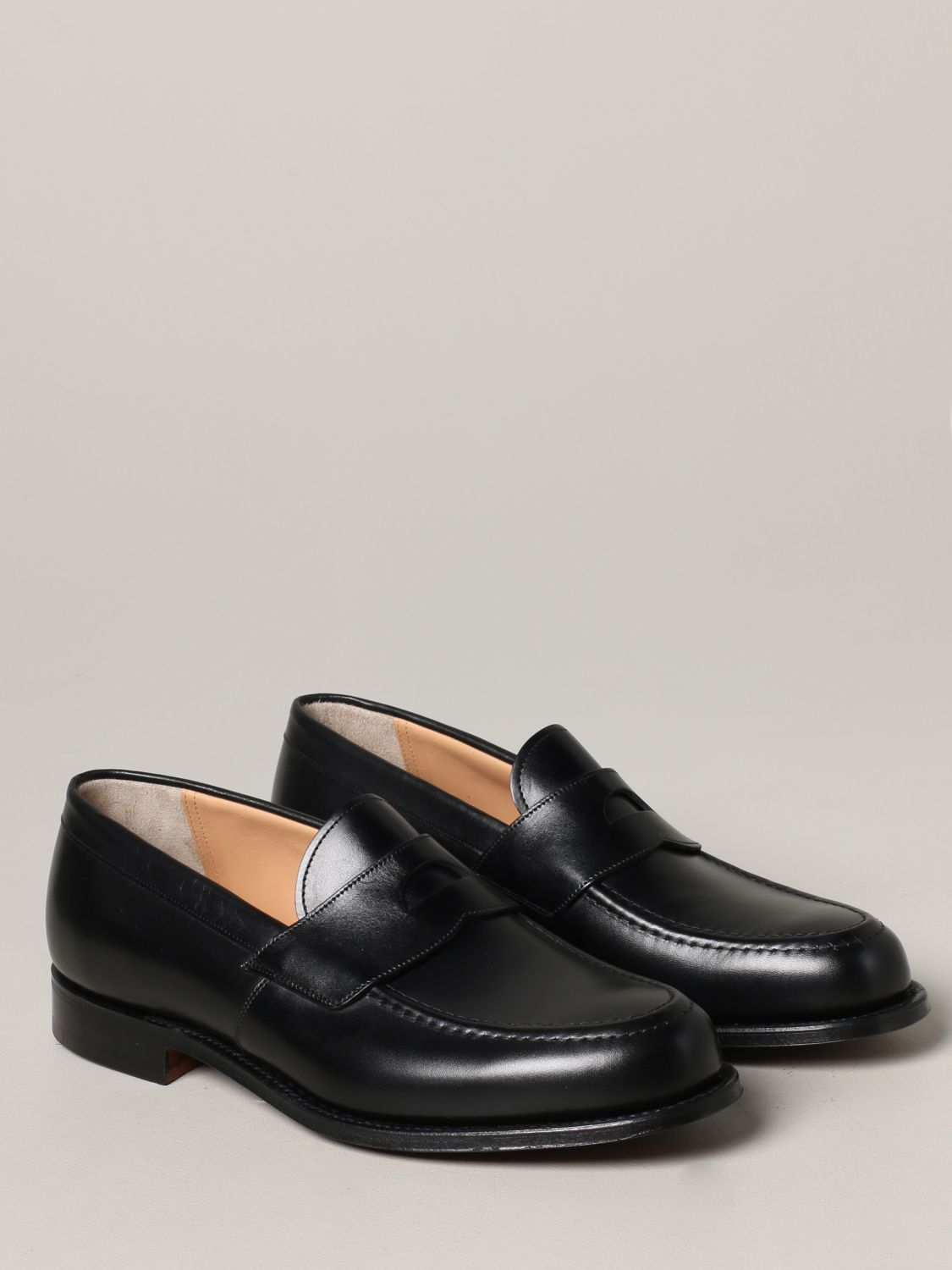 Loafers Church's: Dawley Church's loafer in leather with sleeper black 2